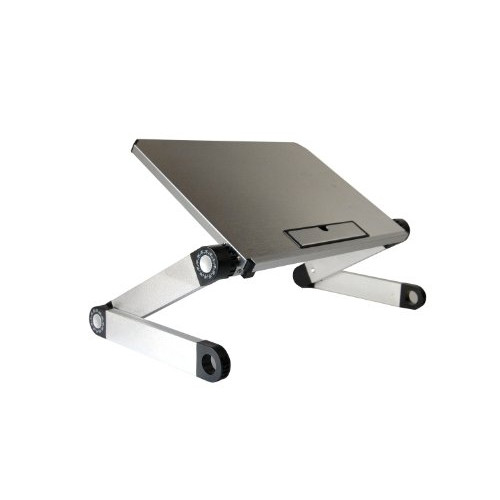 Uncaged Ergonomics WorkEZ Light (SILVER) - Super Lightweight Portable Ergonomic Aluminum Laptop Cooling Riser, Tablet Stand & Book Holder