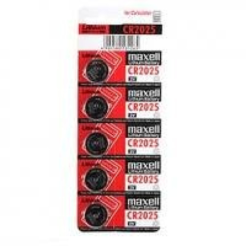 Maxell Lithium 3V Batteries Size CR2025 (Pack of 5)