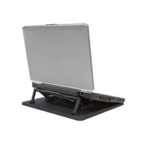 Uncaged Ergonomics - Swivel Laptop Stand (Black) Rotating Tabletop Laptop Riser
