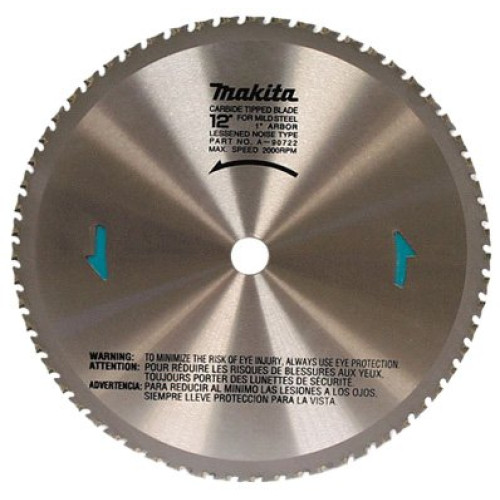 Makita A-90875 12-Inch 78 Tooth Dry Ferrous Metal Cutting Saw Blade with 1-Inch Arbor