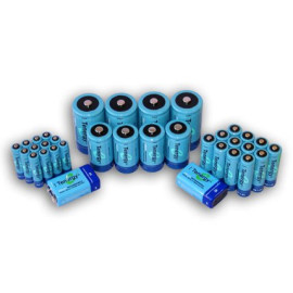 Tenergy High capacity NiMH Rechargeable 34-cell battery package: 12AA/12AAA/4C/4D/2 9V --- SALE!