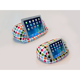 LAP PRO - MINI, Universal Beanbag Lap Stand for iPad Mini, iPad Air, iPad 1, iPad 2, iPad 3, iPad 4, Kindle, Galaxy, Xoom, Acer, Nexus 7 & all Android Tablets, E-Readers, Books & Magazines - Bed, Couch, Travel - Adjustable Angle; 0 - 89 deg. (Polkadot)