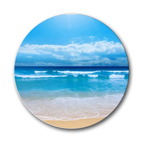Scenic Beach Ocean Sand Round Mousepad Mouse Pad Great Gift Idea