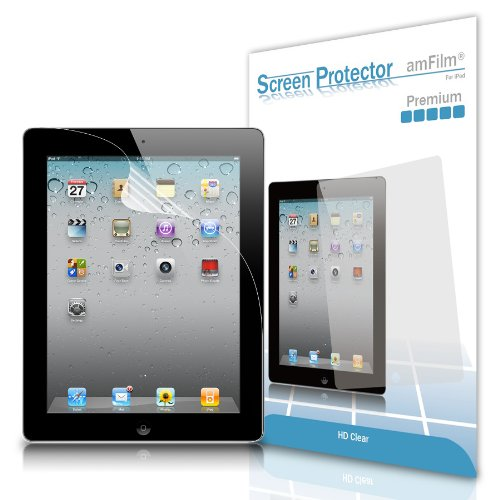 amFilm Premium HD Clear (Invisible) Screen Protectors for Apple iPad 4/3/2 and iPad with Retina Display (2-Pack) with Lifetime Warranty (NOT for iPad Air/iPad 5)