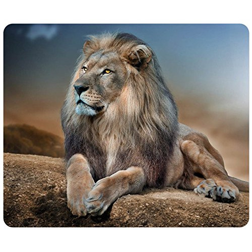 Lion Relaxing Customized Rectangle Mousepad, Mouse Pad