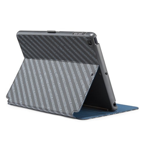 Speck Products SPK-A2253 StyleFolio Case and Stand for iPad Air (5th Gen) - MoveGroove Slate/Deep Sea Blue