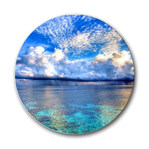 Scenic Tropical Beach Ocean Round Mousepad Mouse Pad Great Gift Idea