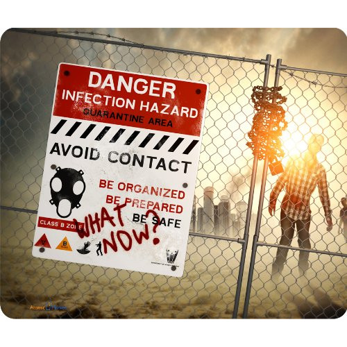 Zombie Aftermath Thick Mouse Pad Great Gift