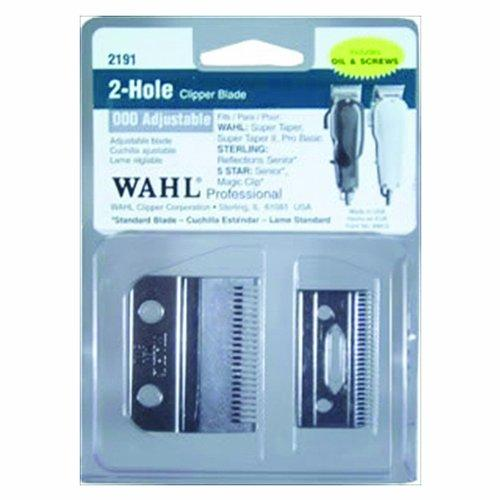 Wahl Professional Adjustable Clipper Blade Set #2191 - For 5 Star Senior, Magic Clip, And Reflections Senior - Includes Oil, Screws &Amp; Instructions