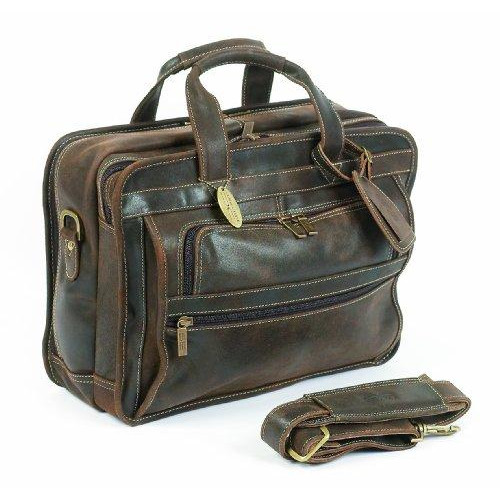 Claire Chase Guardian Computer Briefcase, Distressed Brown, One Size