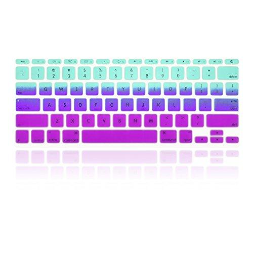 TopCase Faded Ombre Series Light Blue & Purple Silicone Keyboard Cover Skin for Macbook Air 11 with TopCase Mouse Pad