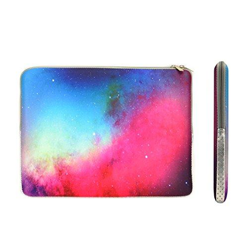 TopCase Pink Galaxy Graphic Zipper Sleeve Bag Case for All Laptop 13 13-inch Macbook Pro with or without Retina Display / Macbook Air / Macbook Unibody / Ultrabook / Chromebook with TopCase Mouse Pad