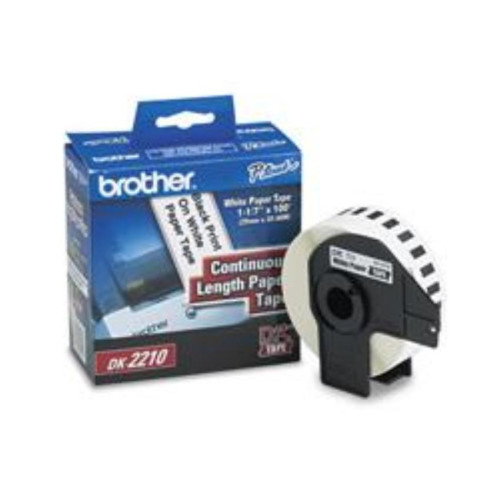 """BROTHER DK2210 TAPE WHITE PAPER 1.1"""" X 100', 100' yield"""