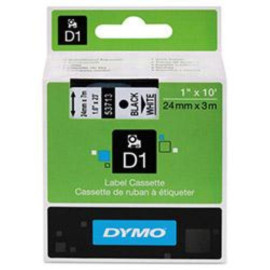 """DYMO BR LW450DUO D1 TAPE 1-BLACK/WHITE 1"""", 23' yield"""
