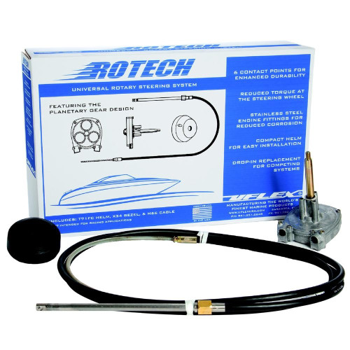 UFlex Rotech 16' Rotary Steering Package - Cable, Bezel, Helm