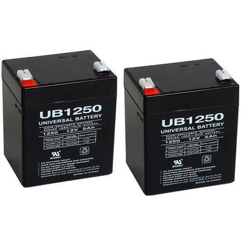 UB1250 SLA Battery 12 Volt 5 AMP Hours - 2 Pack