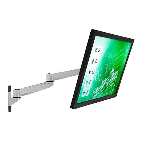 Mount-It! MI-33114 Single Articulating, Full Motion, Tilting, Wall Mount for 13, 17, 19, 20, 22, 23, 24, 27, and 30 Inches, Samsung, Sony, Asus, Dell, LG, Sharp, Insignia, ViewSonic, LED, LCD, Computer Monitors Displays, VESA 75x75 and 100x100