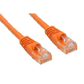 Cablelera Znwn35Or-25 25 ' Cat 6 Utp Rated 550 Mhz Network Patch Cable With Snagless Molded Boots, Orange