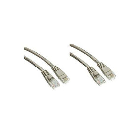 C&E 2 Pack Cat5E Snagless/Molded Boot, Ethernet Patch Cable 5 Feet Grey, Cne480959