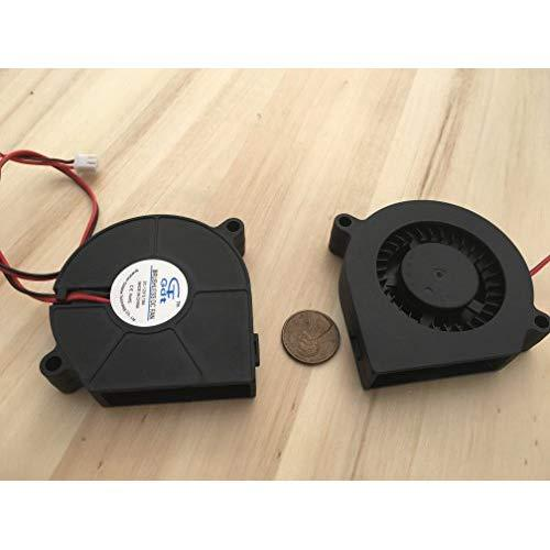 2 Pieces 60Mm 12V Fan Brushless Exhaust Centrifugal Blower 6015S Gdstime C22