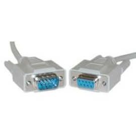 Serial Extension Cable, Db9 Male To Db9 Female, Rs-232, Ul Rated, 9 Conductor, 1:1, 100 Foot