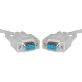 Db9 Female Serial Cable, Db9 Female, Ul Rated, 9 Conductor, 1:1, 6 Foot