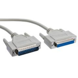 Serial Extension Cable, Db25 Male To Db25 Female, Rs-232, 1:1, 100 Foot