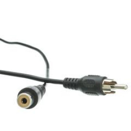 Rca Audio / Video Extension Cable, Rca Male To Rca Female, 3 Foot
