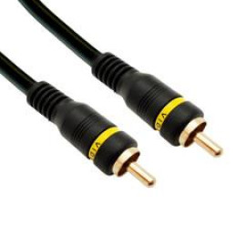 High Quality Composite Video Cable, Rca Male, Gold-Plated Connectors, 25 Foot