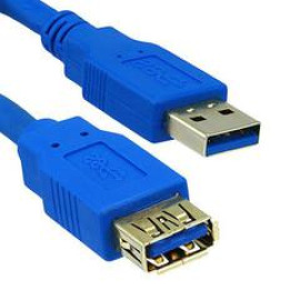 Usb 3.0 Extension Cable, Blue, Type A Male / Type A Female, 6 Foot