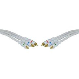 High Quality Component Video Cable, 3 Rca Male (Rgb), Gold-Plated Connectors, 50 Foot