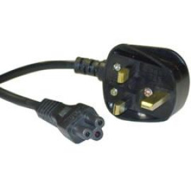 England / Uk Notebook/Laptop Power Cord With Fuse, Bs 1363 To C5, Polarized, Vde Approved, 6 Foot