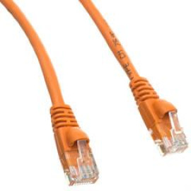 Cat5E Orange Ethernet Patch Cable, Snagless/Molded Boot, 35 Foot