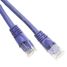 Cat6 Purple Ethernet Patch Cable, Snagless/Molded Boot, 3 Foot