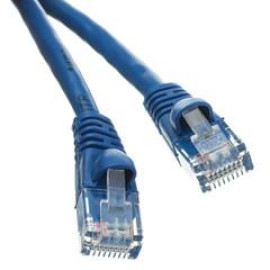 Cat6 Blue Ethernet Patch Cable, Snagless/Molded Boot, 6 Foot