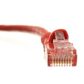 Cat6 Red Ethernet Patch Cable, Snagless/Molded Boot, 50 Foot