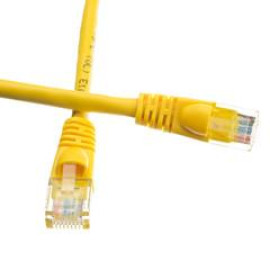 Cat6 Yellow Ethernet Patch Cable, Snagless/Molded Boot, 7 Foot