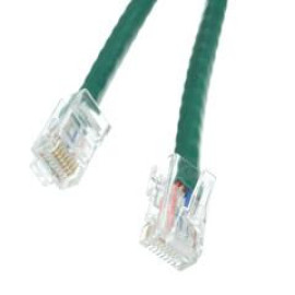 Cat6 Green Ethernet Patch Cable, Bootless, 14 Foot