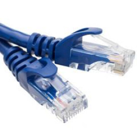 Cat6 Finger Boot Ethernet Patch Cable, Blue, 1 Foot