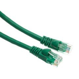 Cat6A Green Ethernet Patch Cable, Snagless/Molded Boot, 500 Mhz, 1 Foot