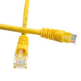 Cat6A Yellow Ethernet Patch Cable, Snagless/Molded Boot, 500 Mhz, 25 Foot