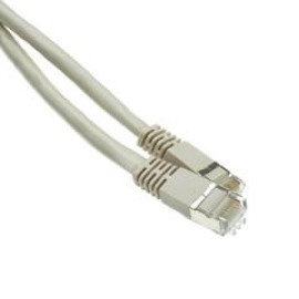 Shielded Cat6A Gray Ethernet Patch Cable, Snagless/Molded Boot, 500 Mhz, 20 Foot