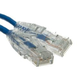 Cat6A Blue Slim Ethernet Patch Cable, Snagless/Molded Boot, 3 Foot