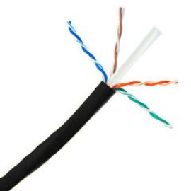 Plenum Cat6A Black Ethernet Cable, Solid, Cmp, Utp (Unshielded Twisted Pair), 500 Mhz, 23 Awg, Spool, 1000 Foot