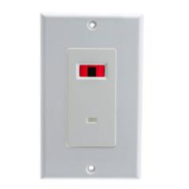 Wall Plate, White, Ir Receiver, Dual Band, 12 Volts Dc, 30 Ma, Single Gang