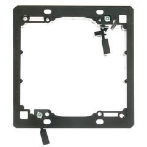 Wall Plate Mounting Bracket, Nylon, Low Voltage, Dual Gang