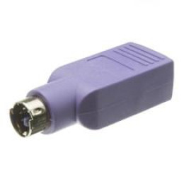 Usb To Ps/2 Keyboard/Mouse Adapter, Purple, Usb Type A Female To Ps/2 (Minidin6) Male