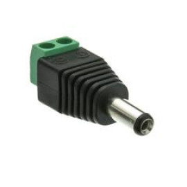 Dc Male Power Plug To 2 Pin Terminal (Screw Down) Adapter