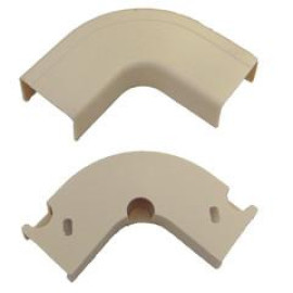 3/4 Inch Surface Mount Cable Raceway, Ivory, Flat 90 Degree Elbow