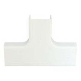 1.25 Inch Surface Mount Cable Raceway, White, Tee